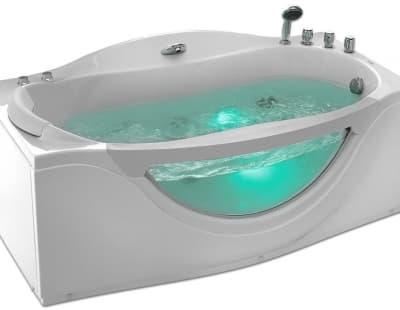 С гидромассажем акриловая ванна Gemy G9072 B R 171 прямоугольная 171x92