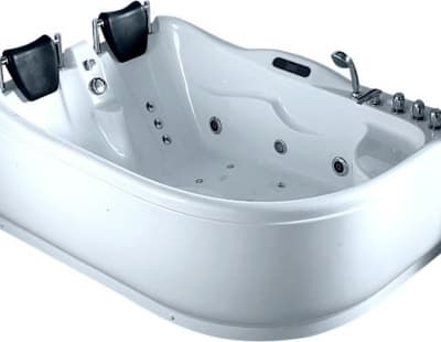 С гидромассажем акриловая ванна Gemy G9083 K L 180 асимметричная 180x121
