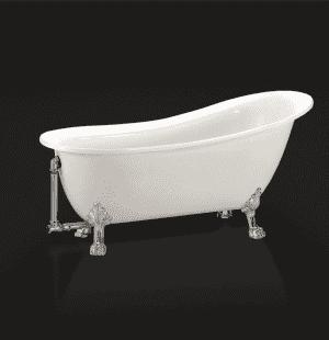 Ванна акриловая отдельностоящая BELBAGNO BB06-1550-CRM