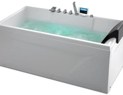 С гидромассажем акриловая ванна Gemy G9075 K L 161 прямоугольная 161x81