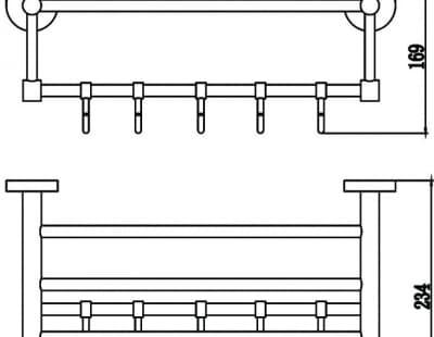 Полка для полотенец 40см Savol S-408745