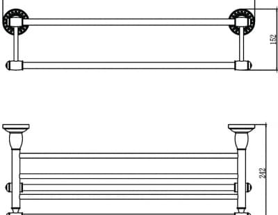 Полка для полотенец 60 см Savol S-606644H