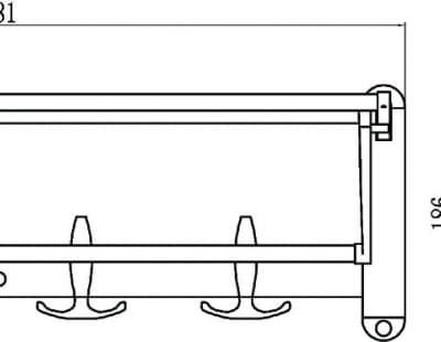 Полка для полотенец откидная 60 см Savol S-6099С