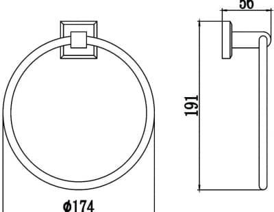Полотенцедержатель кольцевой Savol S-009560