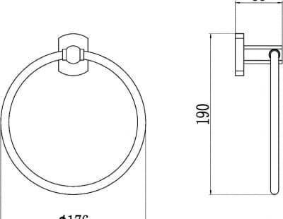 Полотенцедержатель кольцевой Savol S-009960