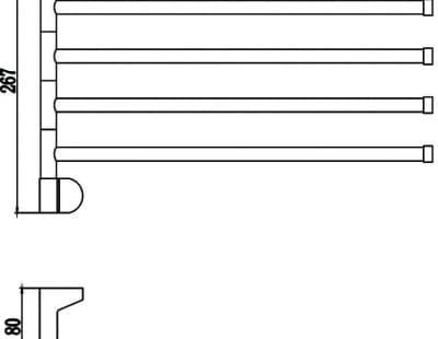 Полотенцедержатель поворотный 4-ой Savol S-007304