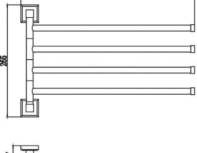 Полотенцедержатель поворотный 4-ой Savol S-009504