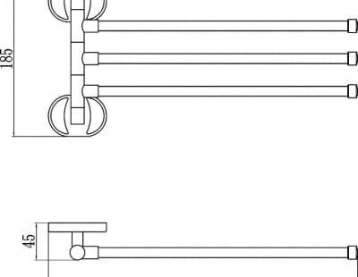 Полотенцедержатель поворотный Savol S-008603