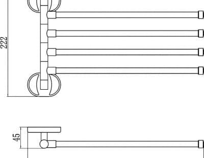 Полотенцедержатель поворотный Savol S-008604