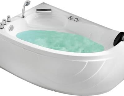 С гидромассажем акриловая ванна Gemy G9009 B L 150 асимметричная 150x100