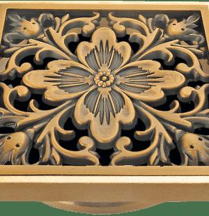 Бронзовые решетки Цветок к трапам Viega 100x100
