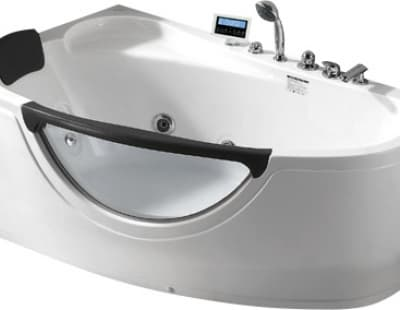 С гидромассажем акриловая ванна Gemy G9046 K L 161 асимметричная 161x96