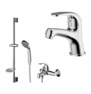 Комплект для ванной комнаты 3в1 смесители Bravat Fit F00315C