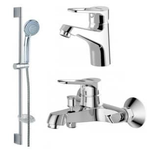 Комплект для ванной комнаты 3в1 смесители Bravat Eco F00313C