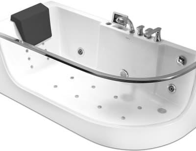 С гидромассажем акриловая ванна Gemy G9227 K L 165 асимметричная 165x80