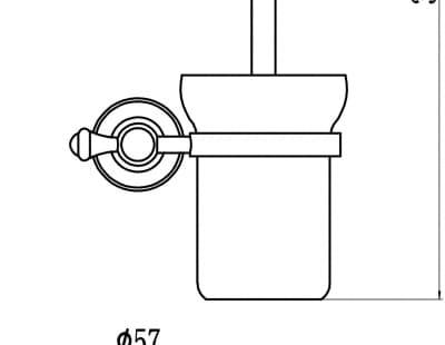 Туалетный ёршик с настенным держателем Savol S-05794B