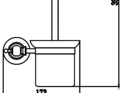 Туалетный ёршик с настенным держателем Savol S-06994W
