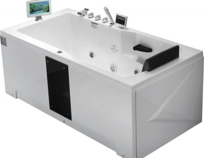С гидромассажем акриловая ванна Gemy G9066 II O L 171 прямоугольная 171x86
