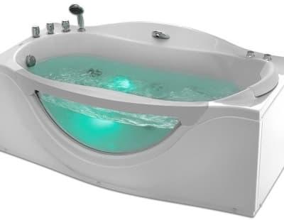 С гидромассажем акриловая ванна Gemy G9072 B L 171 прямоугольная 171x92