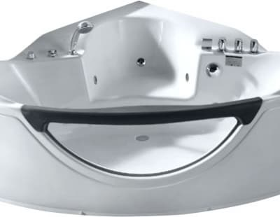 С гидромассажем акриловая ванна Gemy G9025 II B 155 угловая 155x155