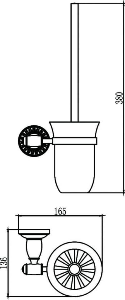 Туалетный ёршик с настенным держателем Savol S-006694С