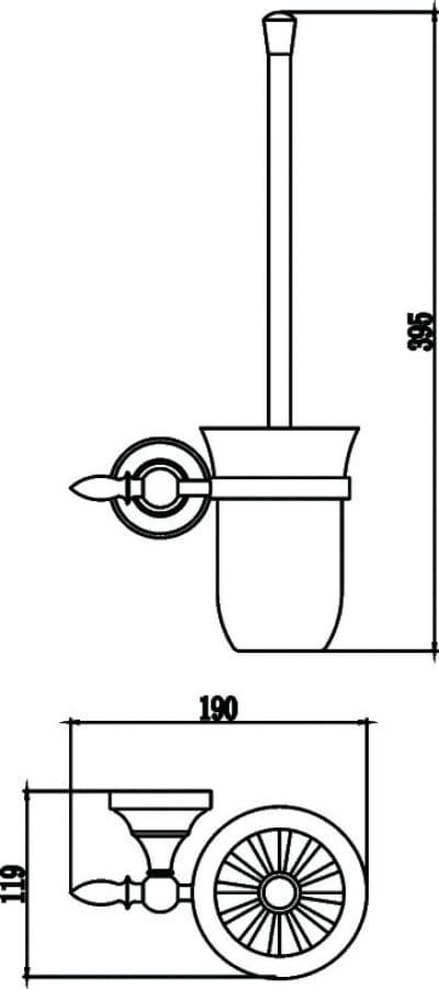 Туалетный ёршик с настенным держателем Savol S-06894B