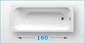 160 см прямоугольные акриловые ванны