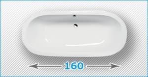 160 см отдельно стоящие акриловые ванны