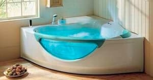 Угловые с гидромассажем ванны