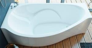 Асимметричные ванны из литьевого мрамора