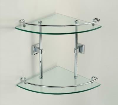 Полка стеклянная угловая двойная Savol S-095322