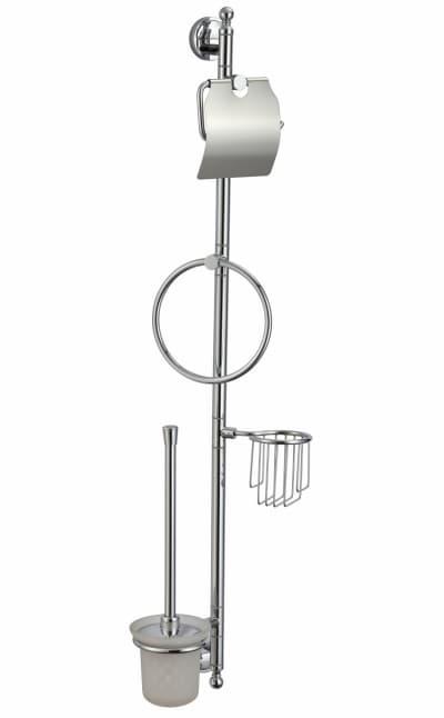 многофункциональная стойка Savol настенная латунная (бумагодержатель, кольцо, держатель освежителя, ерш) S-00C01