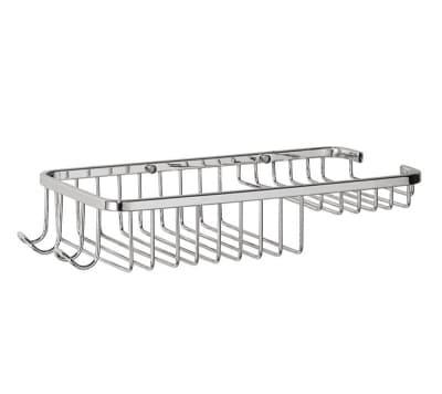 Полка решетка с мыльницей, хромированная, нержавеющая Savol S-002817