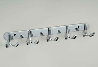 Планка с крючками Savol (5 крючков), хромированный, нержавеющая S-07205B