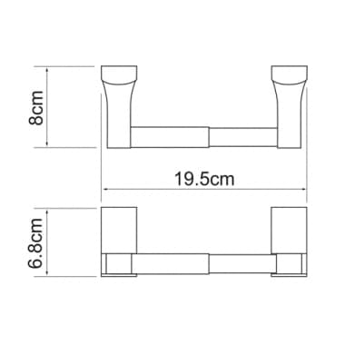 К-5222 Держатель туалетной бумаги WasserKRAFT