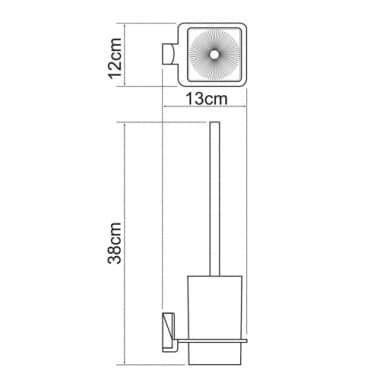 К-5227 Щетка для унитаза подвесная WasserKRAFT
