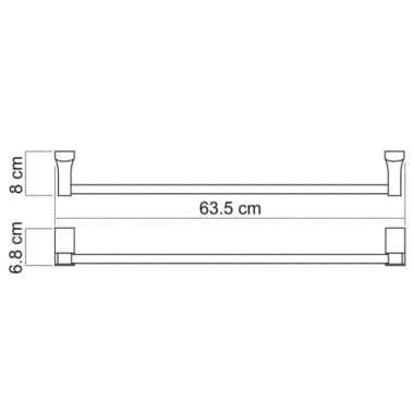 К-5230 Штанга для полотенец WasserKRAFT