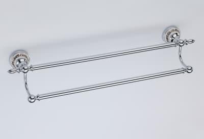 Полотенцедержатель трубчатый двойной Savol S-006848A