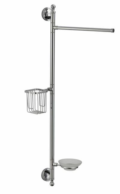 многофункциональная стойка Savol настенная латунная (газетница, держатель освежителя, мыльница) S-00C08