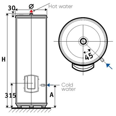 Водонагреватель накопительный Atlantic 300 FS 892216 электрический 300 литров