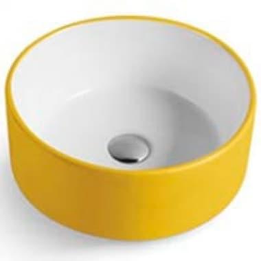 Раковина фигурная накладная MELANA MLN-7078AYW желтая