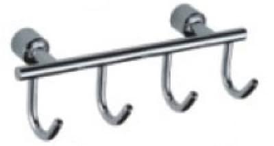 Планка с крючками Savol (4 крючка), хромированная, латунная S-005254