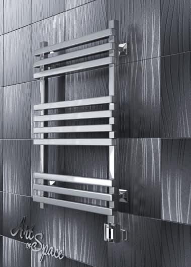 Электрический полотенцесушитель с функцией быстрой сушки скрытое подключение ArtofSpace CUBE EACE400600ChromeRS