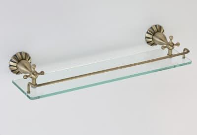 Полка стеклянная одинарная Savol S-08991C