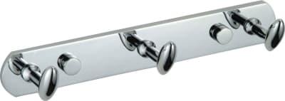 Планка с крючками Savol (3 крючка), хромированная, латунная S-003253