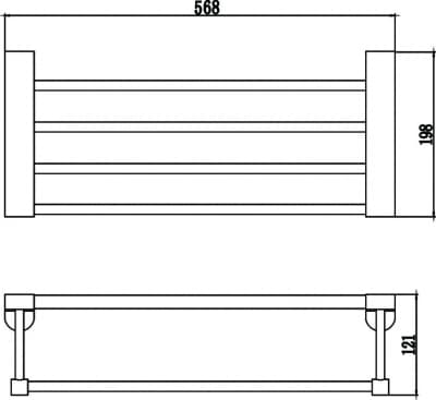 Полка для полотенец 60см Savol S-607344