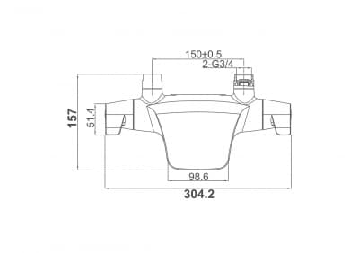 Смеситель для ванны D&K Bayern Potsdam (DA2143201)