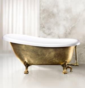 Ванна акриловая отдельностоящая BELBAGNO BB04-ORO/BIA 1700