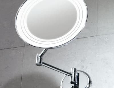 Gedy, G-Gerard, настенное косметическое зеркало с 2-х кратным увеличением и подсветкой , цвет хром 2116(13)