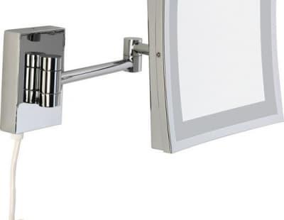 Sanibano, настенное квад. зеркало с 3-х кратным увелич. и LED подсвет. (с проводом и вилкой), цвет х HE8800/WITHLED